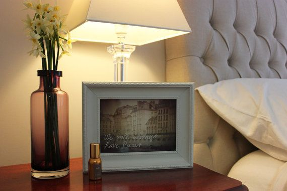 We Will Always Have Paris quote over a beautiful scene of the River Seine and its glorious Parisian architecture. Inspirational Quote, French bedroom, Paris #roundtheworldprints