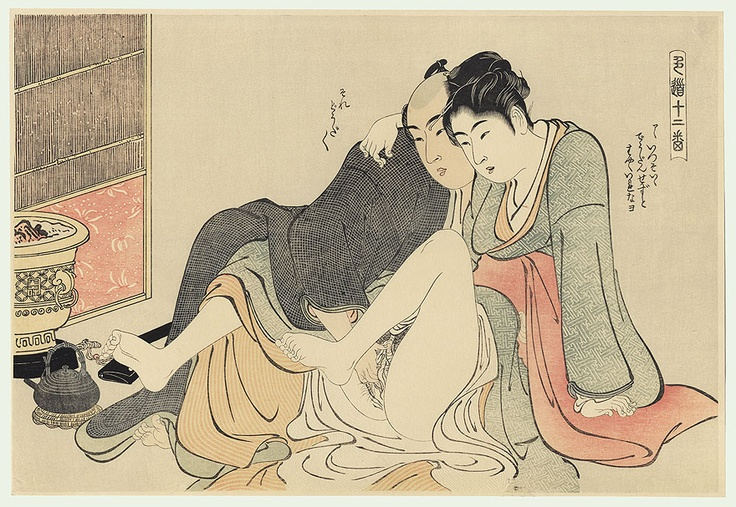 Kiyonaga, Twelve Holds in the Way of Sex, 1784