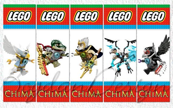 INSTANT DOWNLOAD Digital LEGO Chima Printable by BogdanDesign, $2.50