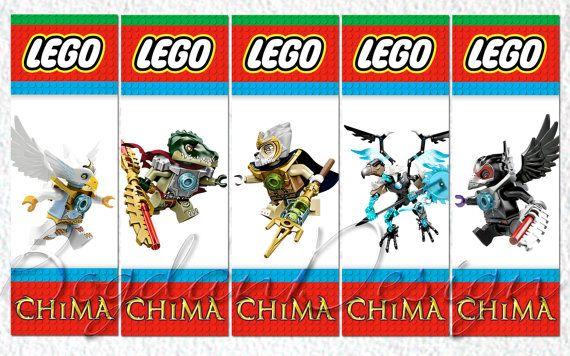 INSTANT DOWNLOAD Digital LEGO Chima Printable by BogdanDesign, $2.50