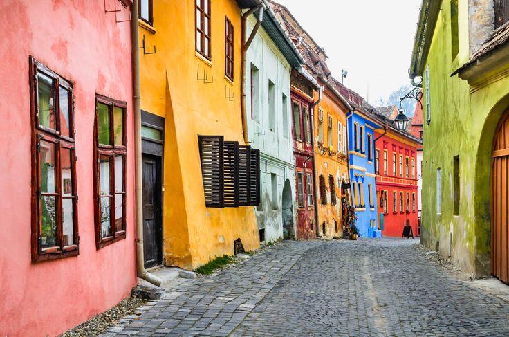 Sighisoara, Romania. Transylvania region of Europe - most colorful town in Romania.