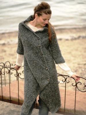 схема вязания ассиметричного пальто 1
