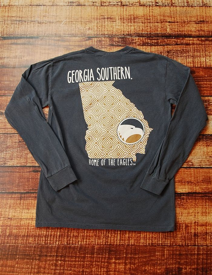 Show your love for your awesome Georgia Southern Eagles in this great NEW GSU design. This long-sleeve Comfort Color is perfect for you Go Eagles