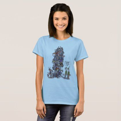 Biggest Sore Loser women cartoon blue shirt - humor funny fun humour humorous gift idea