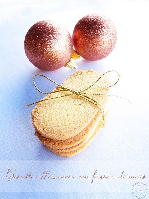 Biscotti all'arancia con farina di mais (senza glutine) - Corn flour orange cookies (gluten free)