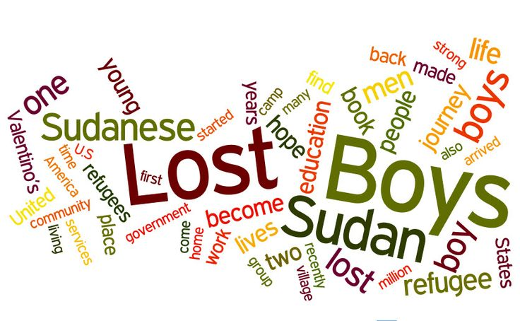 Some words that describe the Lost Boys of Sudan.