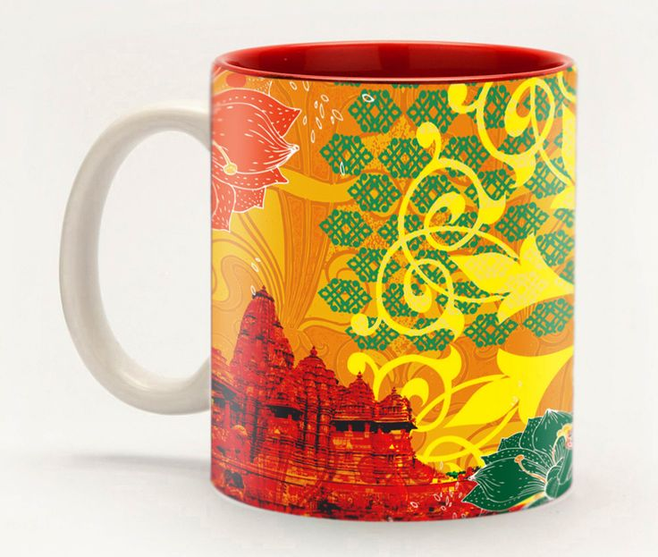 Sun temple Mug - Looking for a gift to remember the wonders of India, but don't trust the dodgy street vendors? We totally get it. That's why we've created this dazzling design inspired by the world-famous temples of India, which have been lovingly hand-carved thousands of years ago by only the most talented artisans. This mug makes a great souvenir and is a fabulous gift for anyone on your list.