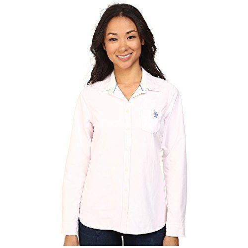 (ユーエスポロアソシエーション) U.S. POLO ASSN. レディース トップス 長袖シャツ Solid Oxford Shirt 並行輸入品  新品【取り寄せ商品のため、お届けまでに2週間前後かかります。】 表示サイズ表はすべて【参考サイズ】です。ご不明点はお問合せ下さい。 カラー:Classic Pink