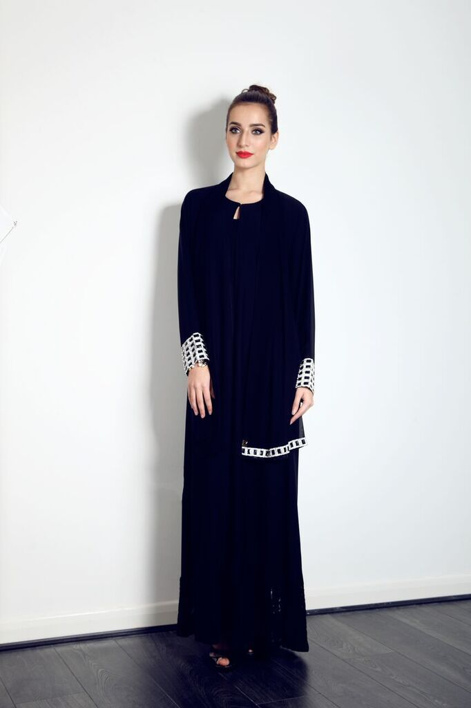 This beautiful black crystal sleeve abaya with lace is on our website now, yours for only £80