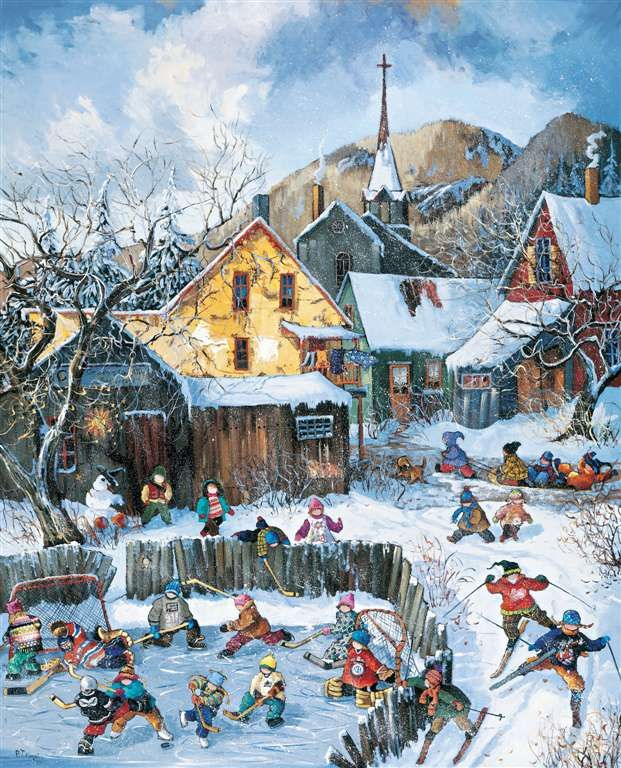 Puzzel Ravensburger Games Germany playtime PaulinePaquin Quebec Artist Childhood themes Canadian # 1 playtime-pauline-paquin