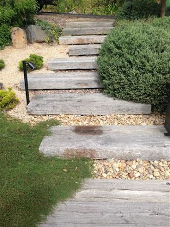garden with sleeper steppers - Google Search