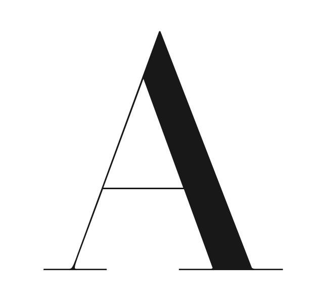 A serif typeface