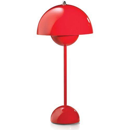 Flower Pot VP3 bordslampa, röd i gruppen Belysning / Lampor / Bordslampor hos RUM21.se (100977)