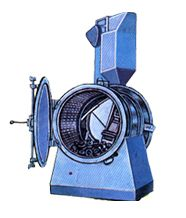Rotoblast  Capacity : 300 kgs. & 400 kgs.  Sturdy Steel Barrel  Compact & Easy to maintain  Suitable for small production batches