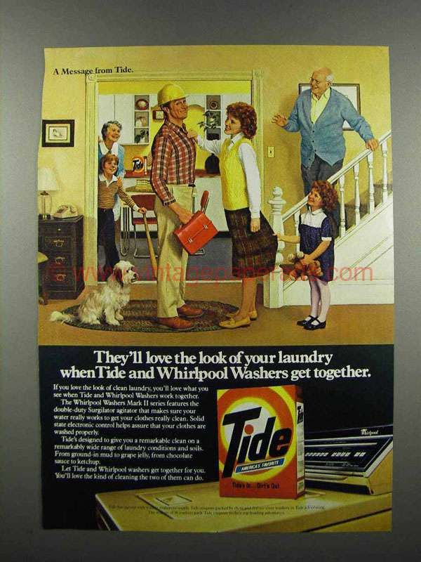 vintage detergent ads | 1983 Tide Detergent Ad - Love the Look of Laundry