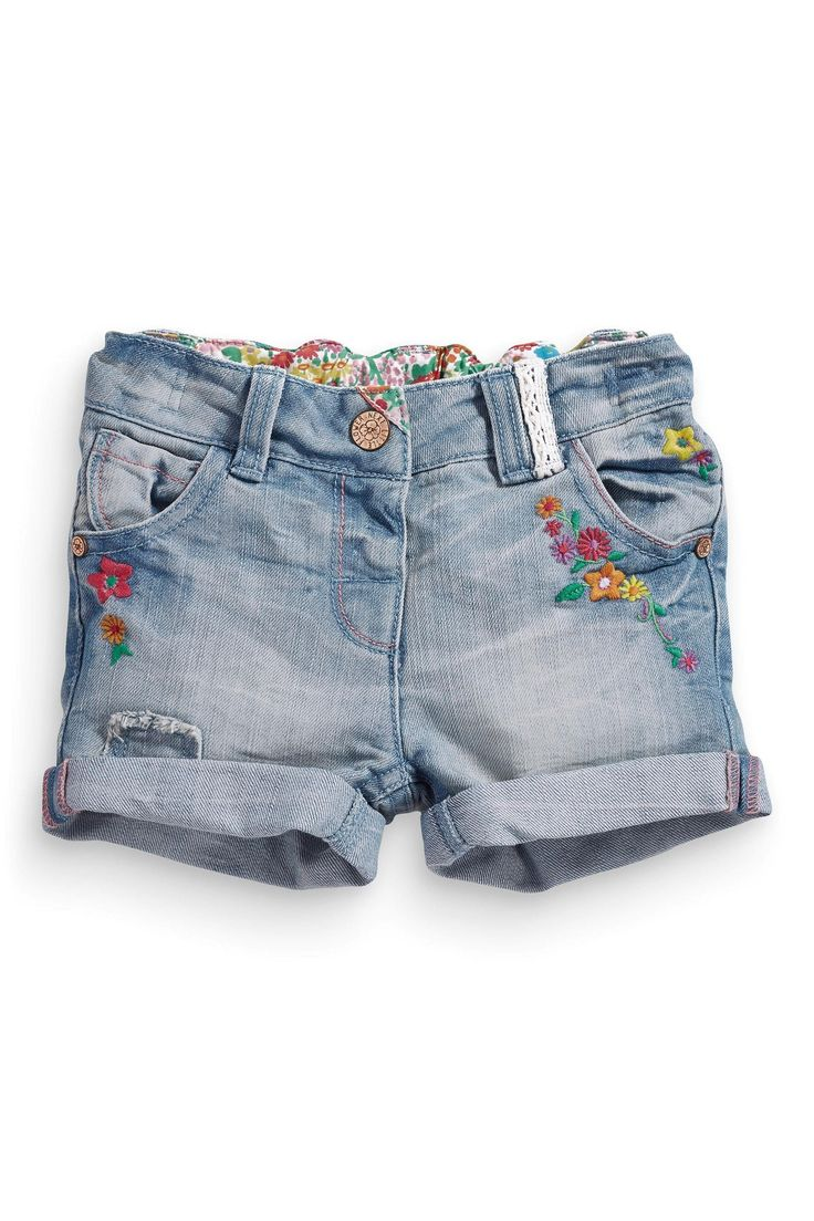 Buy Denim Embellished Shorts (3mths-6yrs) from the Next UK online shop