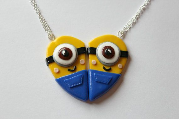 CharmingClayCreation: Despicable Me Minions Inspired Friendship Necklaces - £10