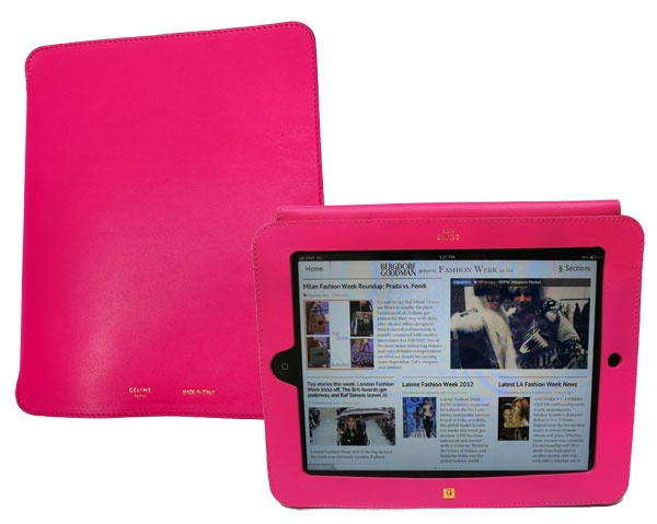 celine ipad case in bright pink