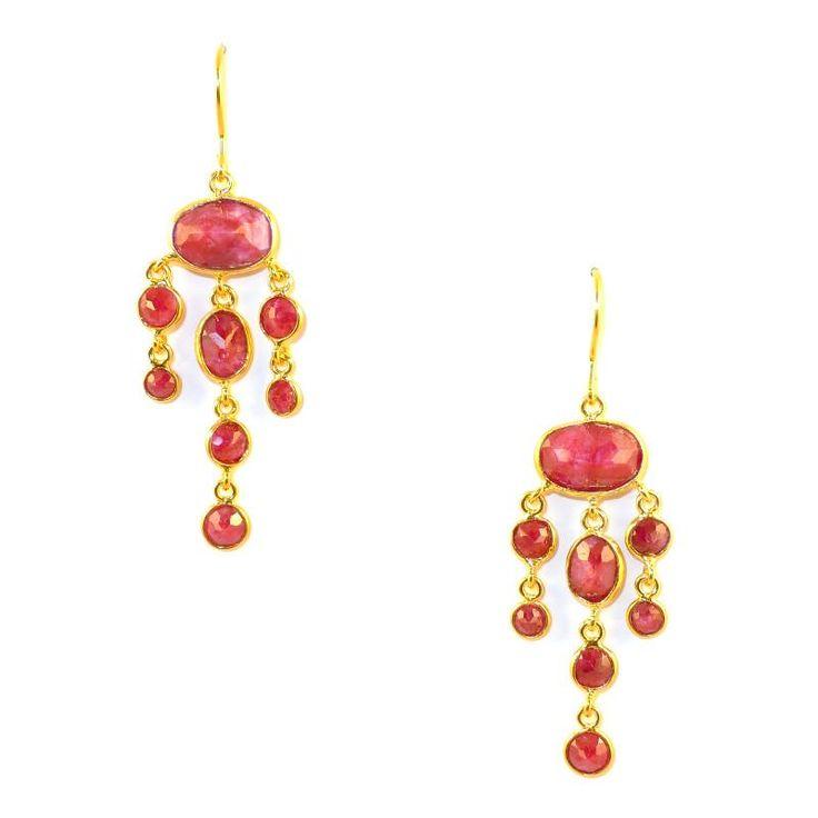 Pomegranate Ruby Jellyfish Earrings at aquaruby.com