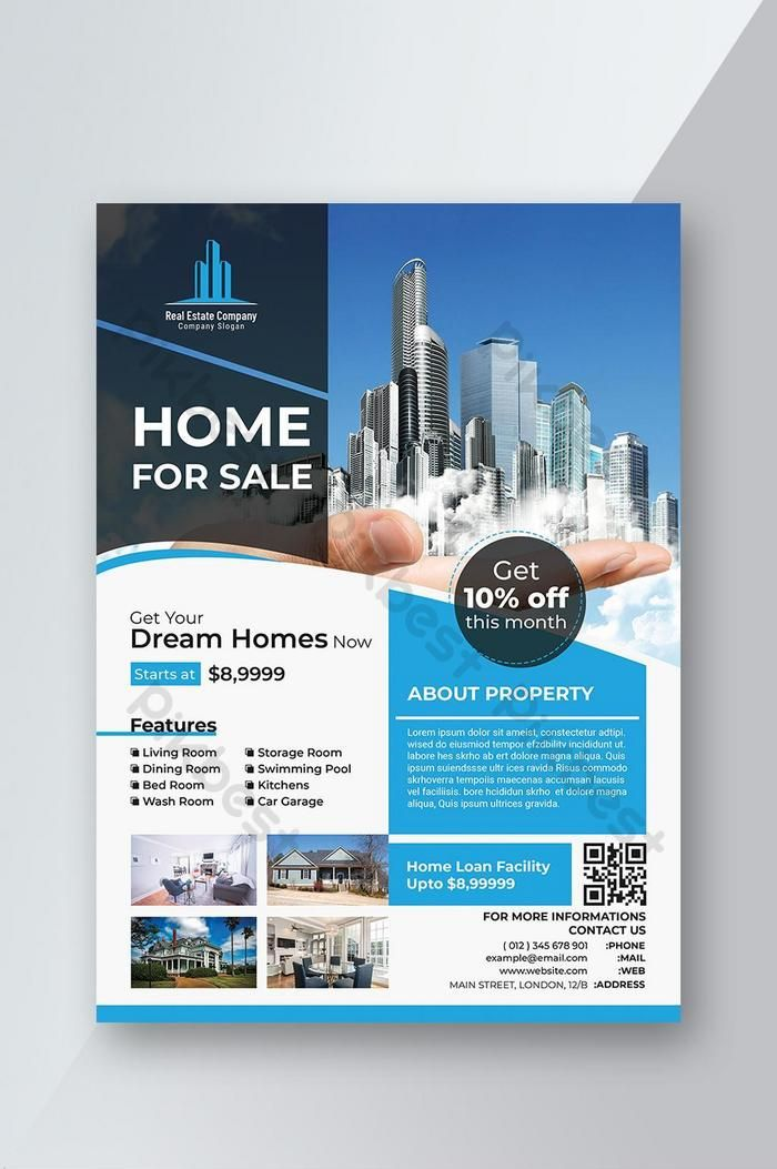 Professional Real Estate Flyer Poster Template Psd Psd Free Download Pikbest Poster Template Real Estate Advertising Real Estate