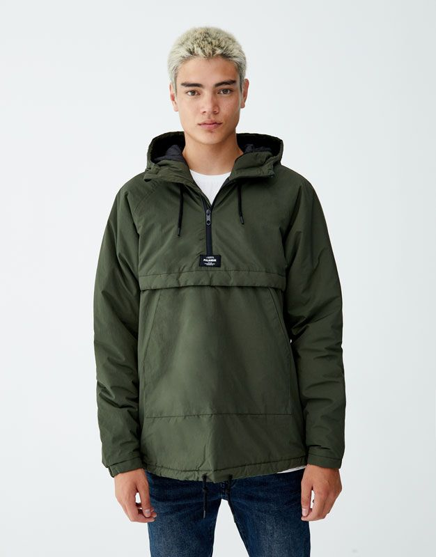 cd29140a74 Hooded jacket with pouch pocket - PULL&BEAR | S20 | Jackets, Hooded ...