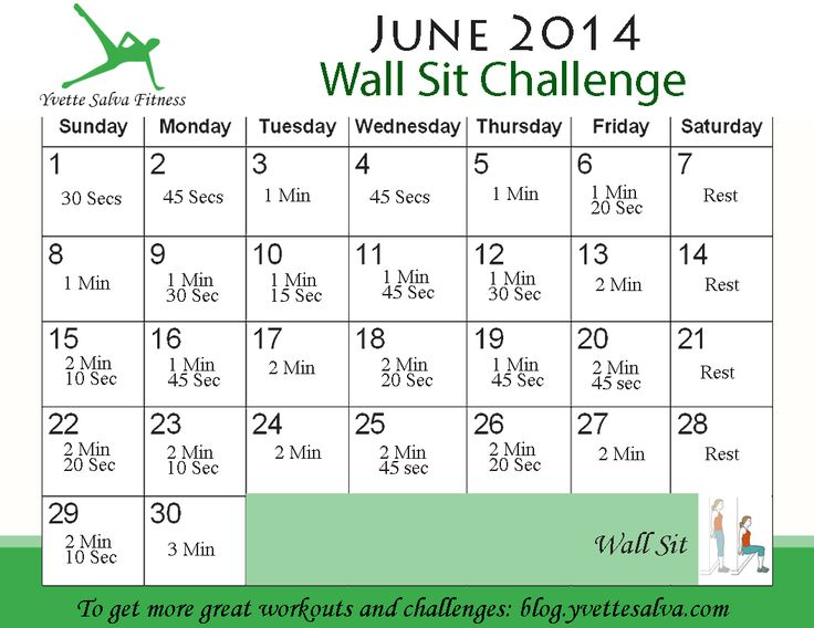 Wall Sit Challenge Best 25+ Wall sit chal...