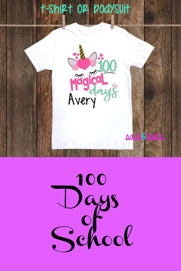 Cute Shirt For Your Little Girls 100th Day Of School Tshirt