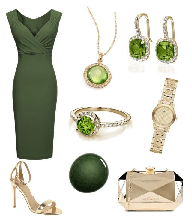 Dinner Date Outfit 59 - Victoria by office-girl on Polyvore featuring Miusol, J/Slides, Love Moschino, Burberry, Ippolita and NARS Cosmetics