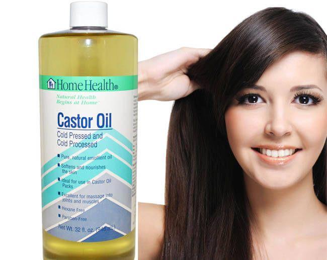 castor oil to hair