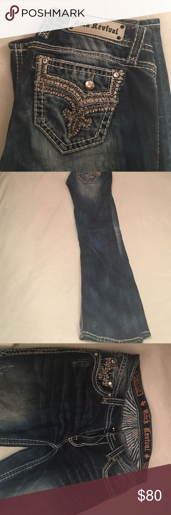 Rock Revival Jeans Rock revival boot cut jeans... barely worn. Size 28 regular. Great condition! Rock Revival Jeans Boot Cut
