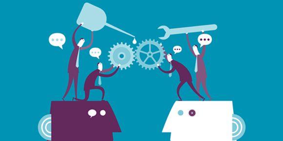 Collaborative minds | Image source: Business2community.com