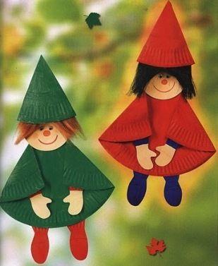 Поделки куклы из бумажных тарелок - Сайт для мам малышей