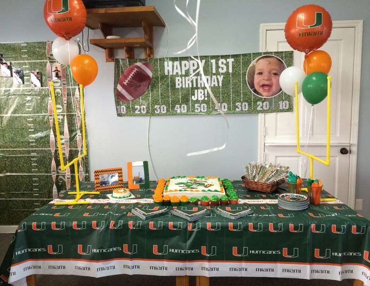 JB's Miami Hurricanes Football Party