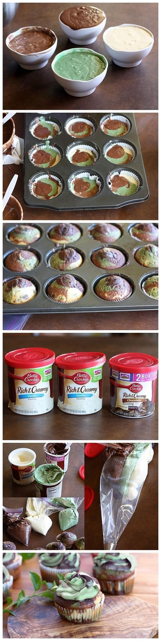 Camo Cupcakes for Veterans Day, #Cupcakes, #Sweet
