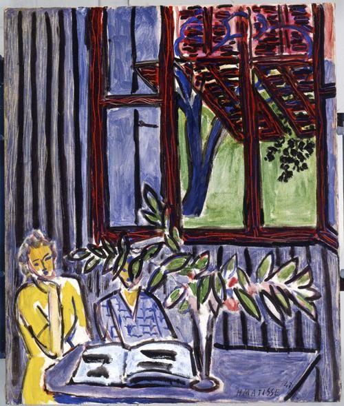 Henri Matisse, Blue Interior with Two Girls, 1947. U of Iowa Museum of Art