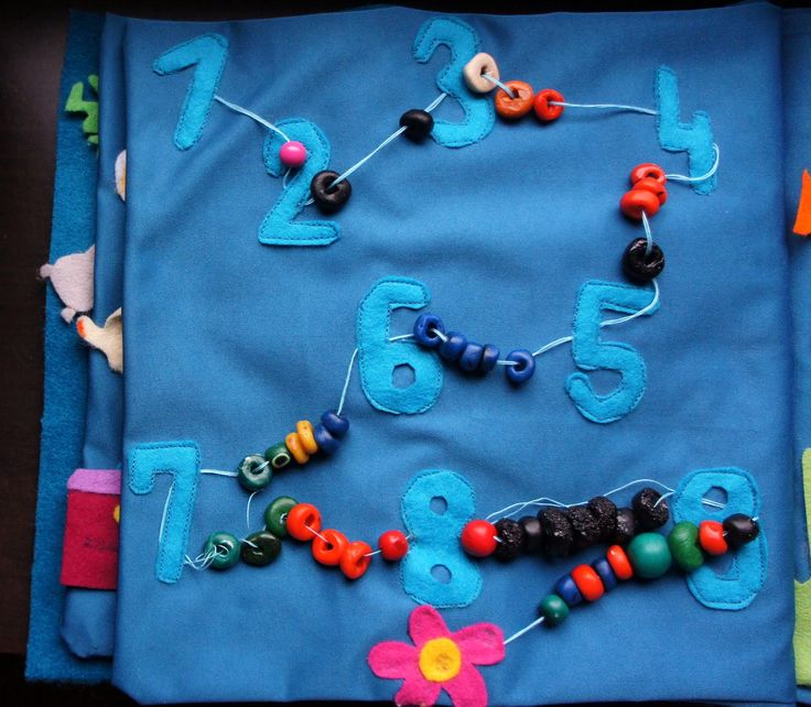 Great idea for a different take on counting beads. Needle: Pierwsza Quiet Book | Home outfit