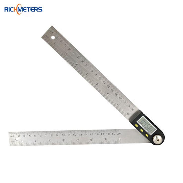 200mm strumento di misurazione di livello elettronico digitale goniometro inclinometro goniometro angolo gauge angolo in acciaio inox righello