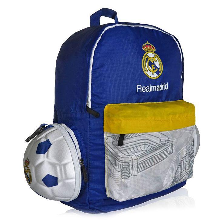 Real Madrid CF Soccer Ball Backpack, Multicolor