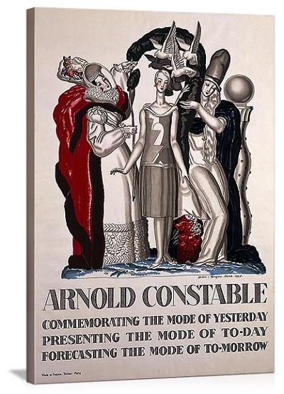 Arnold constable vintage printed on canvas