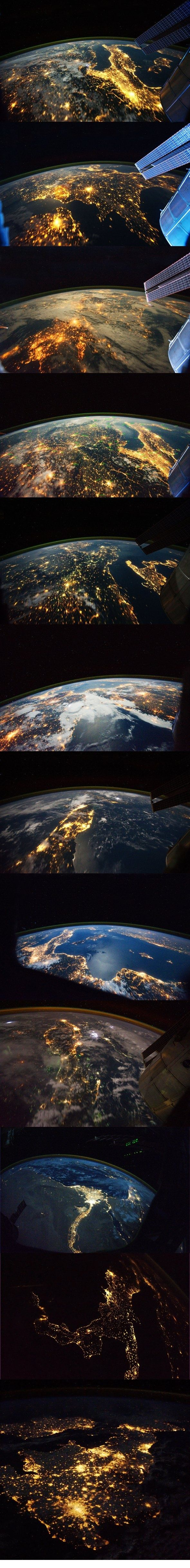 nice Earth at night from space