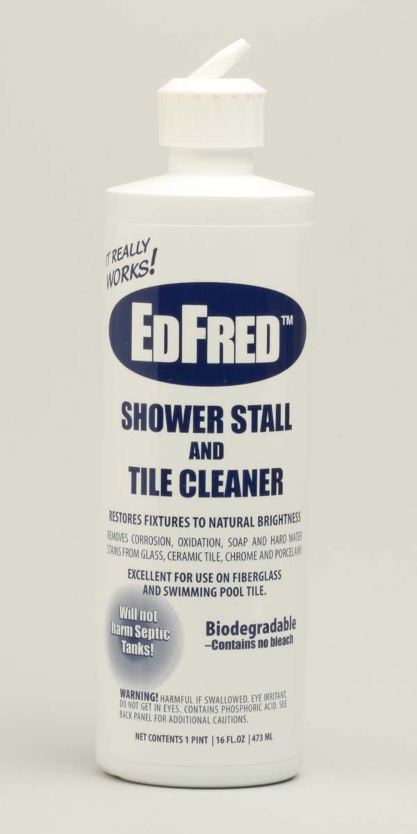 EdFred is the best calcium remover! Better than CLR and others. Puts vinegar to shame. I use it on windows, shower, faucets anywhere there is calcium.  Do not use on wood or painted surfaces.
