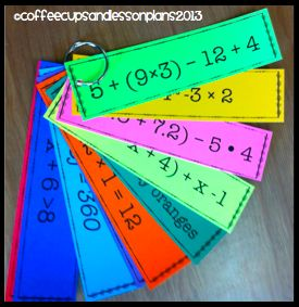 Coffee Cups and Lesson Plans: Order of Operations... Expressions and Equations... Review.. Review.. Review!
