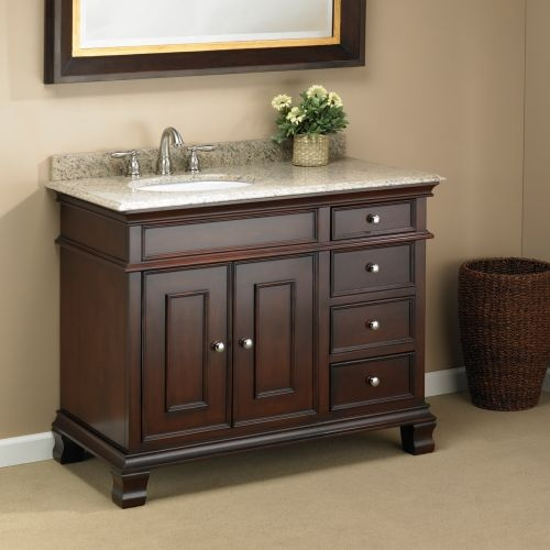 Manhattan 42 single sink vanity by mission hills bathroom pinterest single sink vanity for Costco vanities for bathrooms