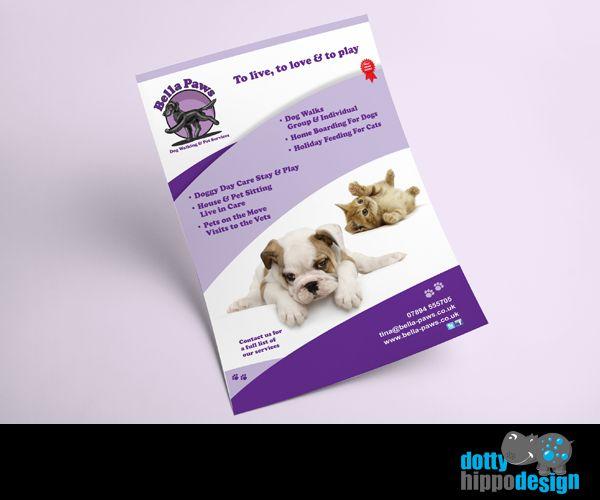 Flyer design for Bella Paws