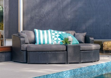 4 pce waterloo wicker lounge setting occasional for Outdoor furniture toowoomba