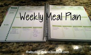 The budget mama weekly meal plan budget pinterest
