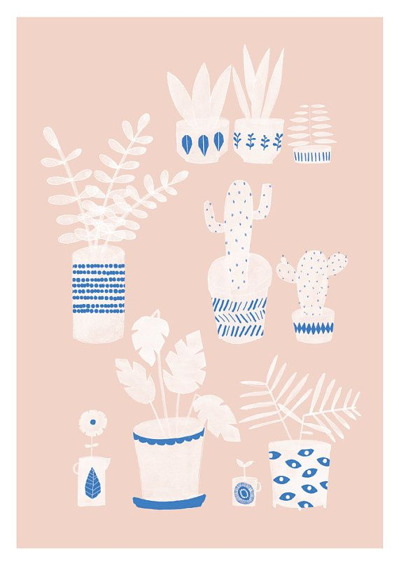 Pots & Plants Print by Studio Meez