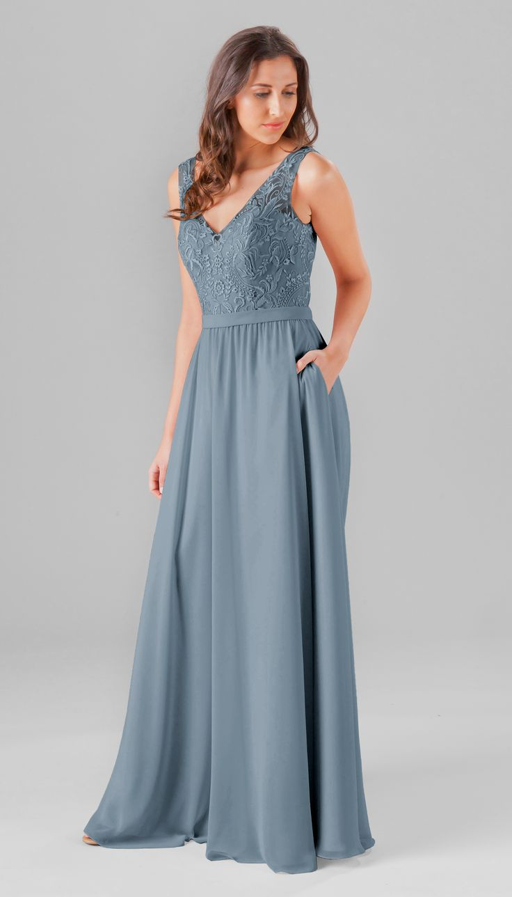 The 25 best slate blue bridesmaid dresses ideas on pinterest a simple and chic embroidered top bridesmaid dress featuring a v neckline with illusion ombrellifo Choice Image