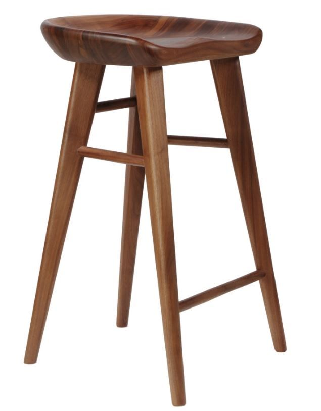 Unique Walnut Counter Height Stools