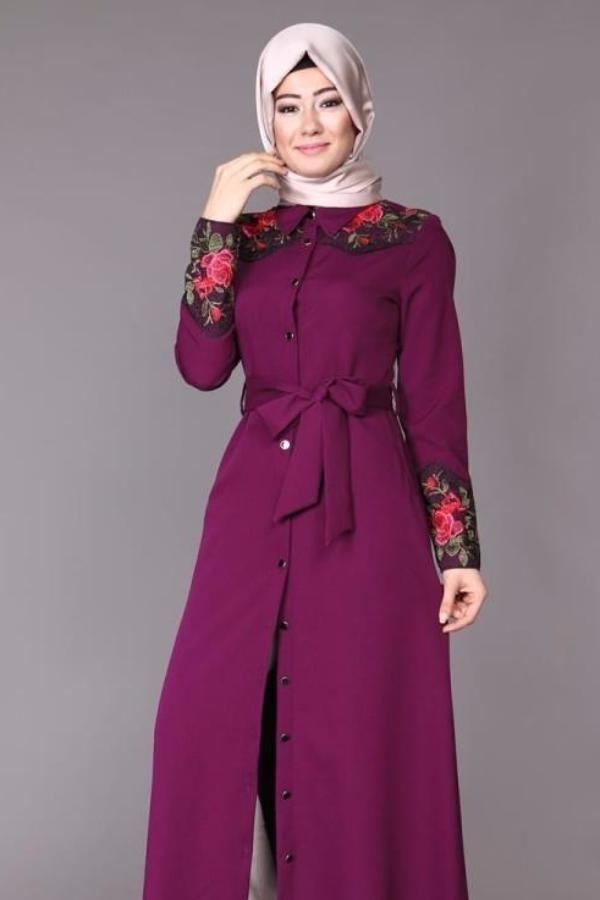 What a beautiful color 😍  tall 146 - normal size - wash on 30 C degree  Last Hope  Code : 2137 PLUM   #abiye #abiyeelbise #dantelelbise #abaya #jilbab #muslimahwear #muslimah #muslim #hijabers #hijabfashion #dress   https://hijablooms.ca/collections/dresses/products/double-likra-1?utm_content=buffera3861&utm_medium=social&utm_source=pinterest.com&utm_campaign=buffer